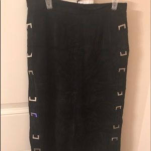 Terry Lewis Soft Suede Long Skirt Sz 12